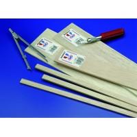 "1/8"" x 1/8"" Balsa Strips -  24"" length - pkg (50) - Mid60442"