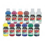 12 Piece Assortment 8oz Acrylic Paint  - Sargent Art 2399