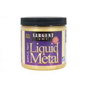 Liquid Metal, Gold, 8oz Acrylic Paint  - Sargent Art 1181