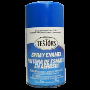 Testors Enamel Spray 3oz  Bright Blue Gloss - Tes1210