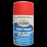 Testors Enamel Spray 3oz  Flat Red- Tes1250
