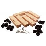 Pinecar Standard Basic Pinewood Derby Kit 6 pack - WOO4051