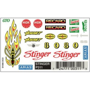 Pinecar Stinger Dry Transfer Decals - WOO311