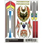 Pinecar Custom Designs Dry Transfer Decals - WOO318
