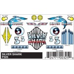 Pinecar Silver Shark Decals - WOO325