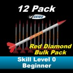 Red Diamond Model Rocket Kit (12 pk)  - Estes 1709