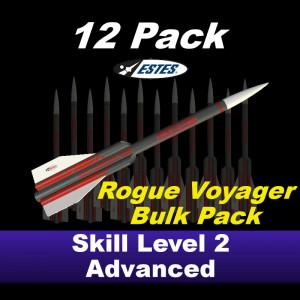 Rogue Voyager Model Rocket Kit (12 pk)  - Estes 1726R