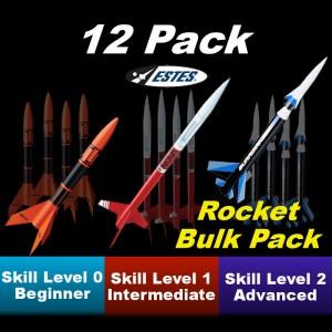 Galaxy Bulk Model Rocket Kit (12 pk)  - Estes 1729