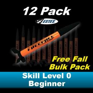 Free Fall Model Rocket Kit (12 pk)  - Estes 1730