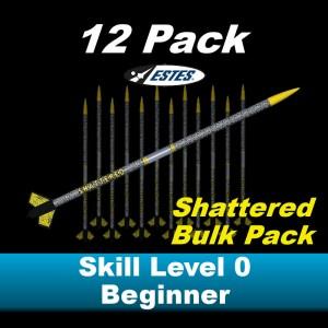 Shattered Model Rocket Kit (12 pk)  - Estes 1739