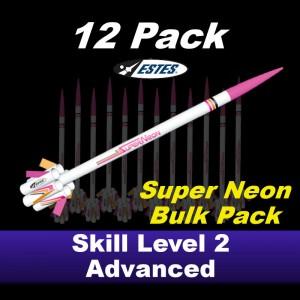 Super Neon Model Rocket Kit (12 pk)  - Estes 1748