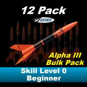 Alpha III Model Rocket Kit (12 pk)  - Estes 1751