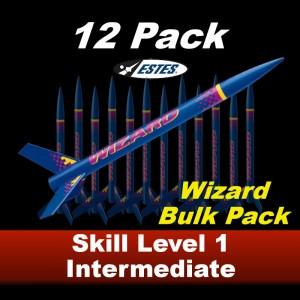 Wizard Model Rocket Kit (12 pk)  - Estes 1754
