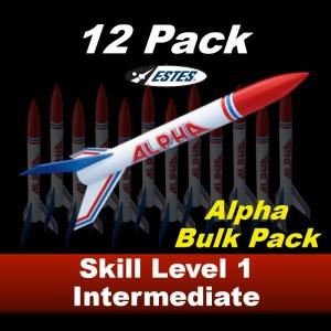Alpha Model Rocket Kit (12 pk)  - Estes 1756