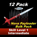 Nova Payloader Model Rocket Kit (12 pk)  - Estes 1757