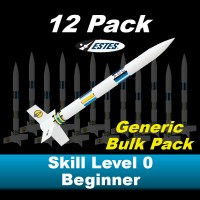 Generic Model Rocket Kit (12 pk)  - Estes 1764