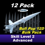 Bull Pup 12D Model Rocket Kit (12 pk)  - Estes 1767