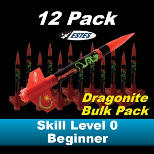 Dragonite Model Rocket Kit (12 pk)  - Estes 1769