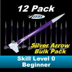 Silver Arrow Model Rocket Bulk Pack (12)  - Estes 1797