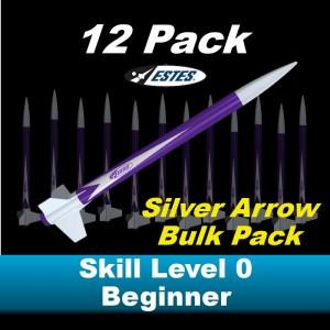 Silver Arrow Model Rocket Bulk Pack (12)  - Estes 1797