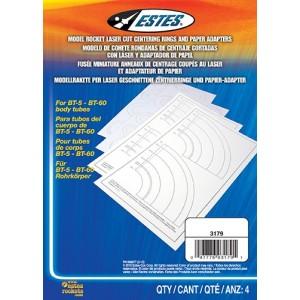 Laser Cut Centering Rings and Paper Adaptors - Estes 3179
